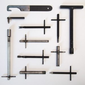 A collection of tools used to unlock protected surfaces