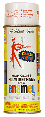 A Red Devil spray paint can