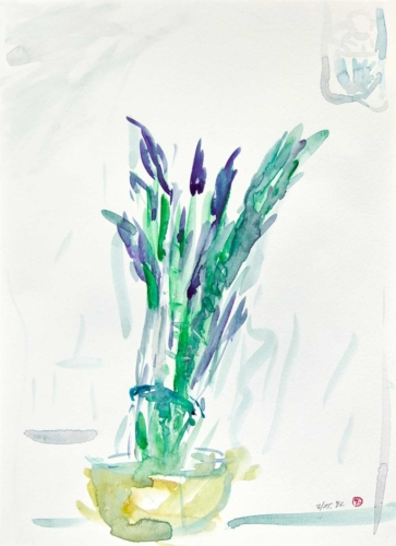 asparagus in a vase like flowers