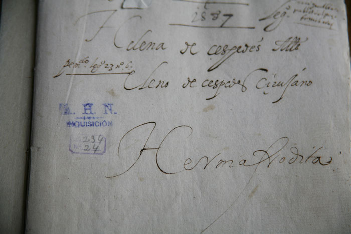 A/O (Caso Céspedes), 2009-10 Actas Inquisición. Archivo Histórico Nacional, fotografías de proceso