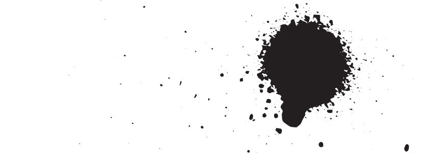 Blob of black spraypaint