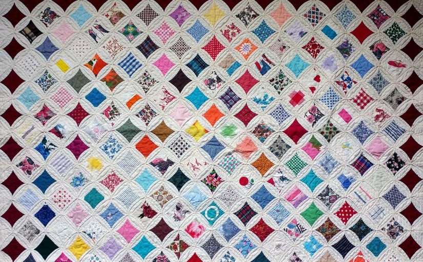 Close up of a quilt