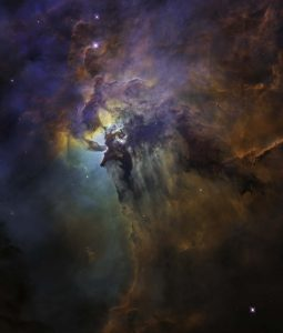 Hubble Telescope photo of the Lagoon Nebula using visible light