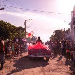 A quinceañera parade