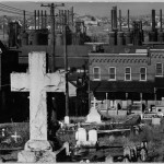 Graveyard, Houses, and Steel Mill Bethlehem, PA, 1935