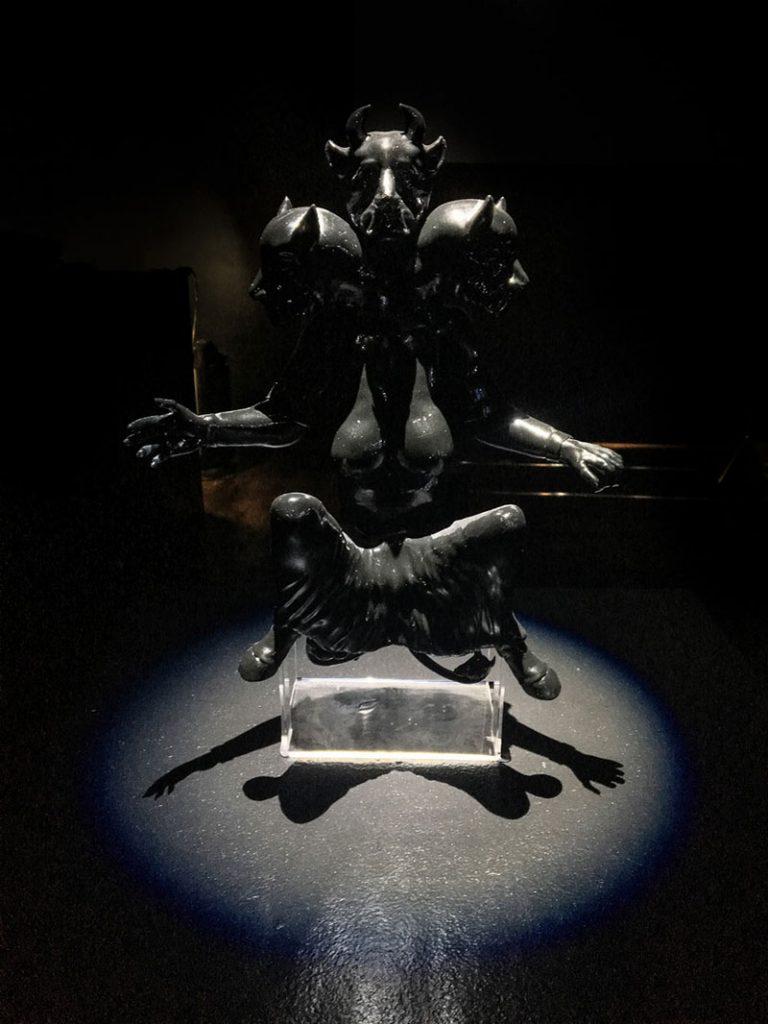 A three-headed gargoyle like goddess