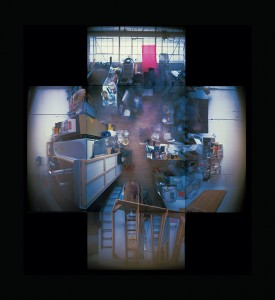 "Evicted May 1, 2000 (9 Hanna Avenue), 13 colour pinhole photos, 20"" x 24"", 2001, photo: Adrian Blackwell. Photo 2 — Adrian Blackwell's Space."