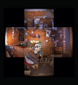 "Evicted May 1, 2000 (9 Hanna Avenue), 13 colour pinhole photos, 20"" x 24"", 2001, photo: Adrian Blackwell. Photo 4 — Darren O'Donnel's Space."