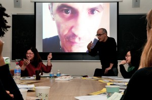 Professor Carol Solomon and Mohamed El Baz.  Courtesy of Lisa Boughter.