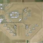 A google map satellite view of a prison facility.