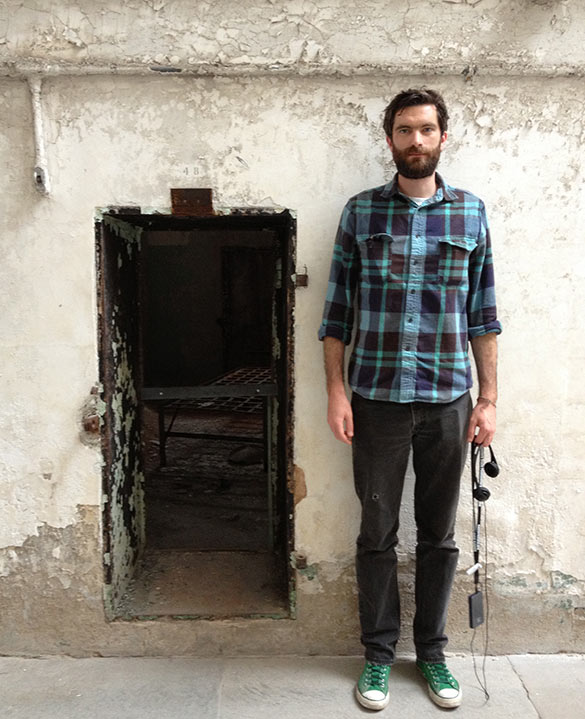 Pete Brook at Eastern State Penitentiary.<br>Photo: Matthew Seamus Callinan