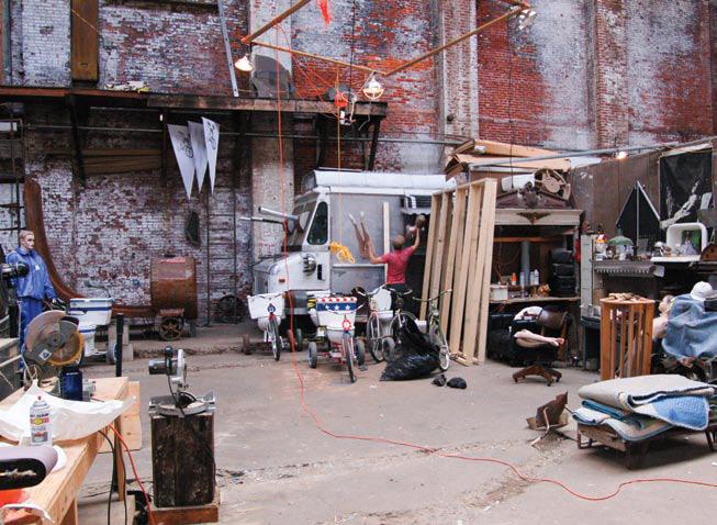 Billy Dufala in his studio, West Philadelphia