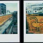 Keith Haring Berlin Wall Mural at Checkpoint Charlie Polaroids, 1986 Keith Haring Foundation